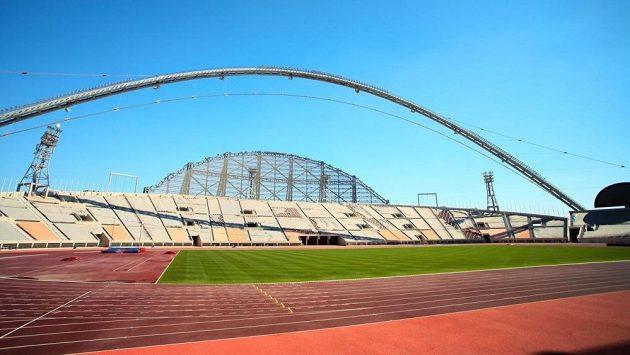 Chalifův stadión v katarském Dauhá, kde se po rekonstrukci bude konat MS atletů i fotbalistů.