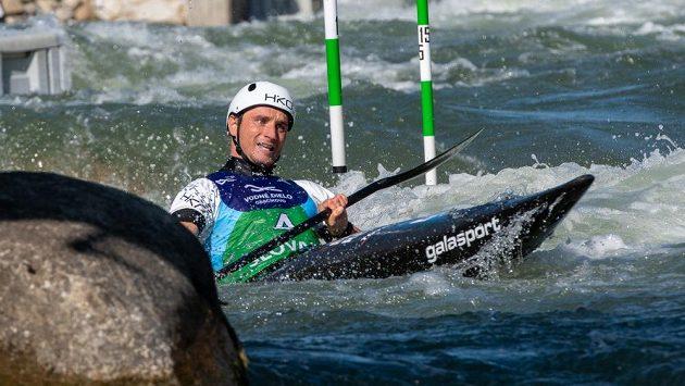 Kajakář Vít Přindiš v semifinále světového šampionátu v Bratislavě.