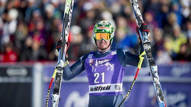 Dominik Paris po vítězném závodě.