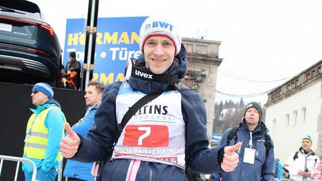 Skokan na lyžích Roman Koudelka skončil v Garmisch-Partenkirchenu na čtvrtém místě.