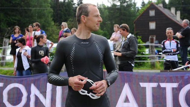Stanislav Řezáč během triatlonu.