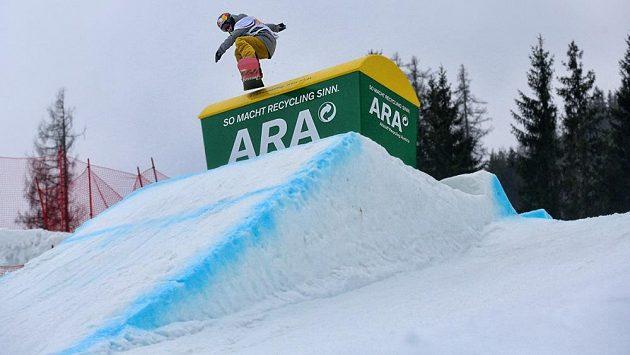 Šárka Pančochová při tréninku slopestylu na mistrovství světa v Kreischbergu.