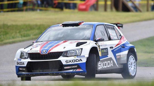 Jan Kopecký a Pavel Dresler při Rallye Český Krumlov.