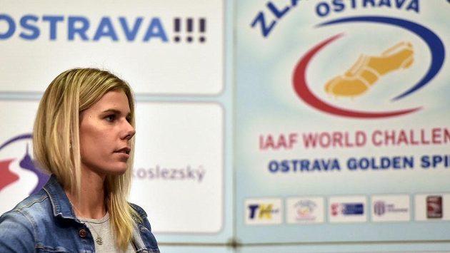 Oštěpařka Nikola Ogrodníková před atletickým mítinkem Zlatá tretra.