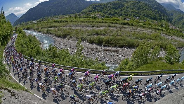 Cyklisté na Giro d'Italia