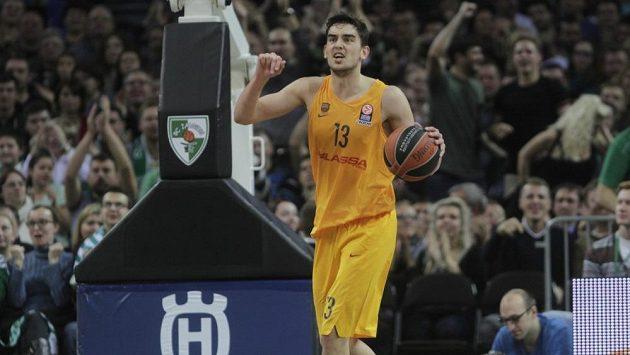 Basketbalista Tomáš Satoranský v dresu Barcelony (ilustrační foto).