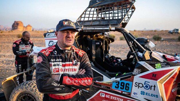 Tomáš Enge při premiéře na Dakaru