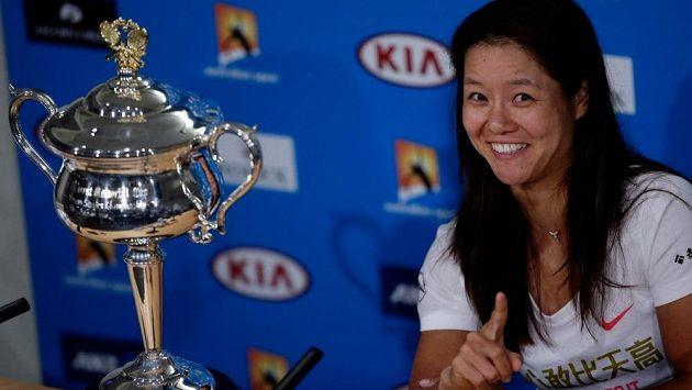 Li Na ještě v dobách své tenisové slávy, jako vítězka Australian Open.