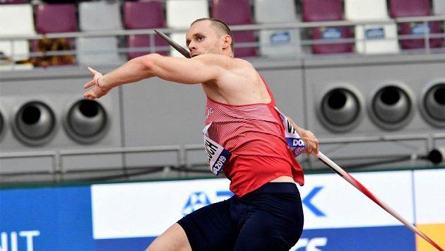 Oštěpař Jakub Vadlejch při kvalifikaci mistrovství světa v Dauhá.