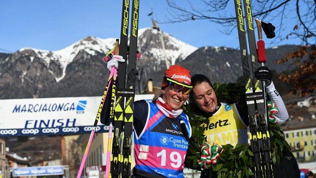 Kateřina Smutná s vítěznou Brittou Johanssonovou Norgrenovou.