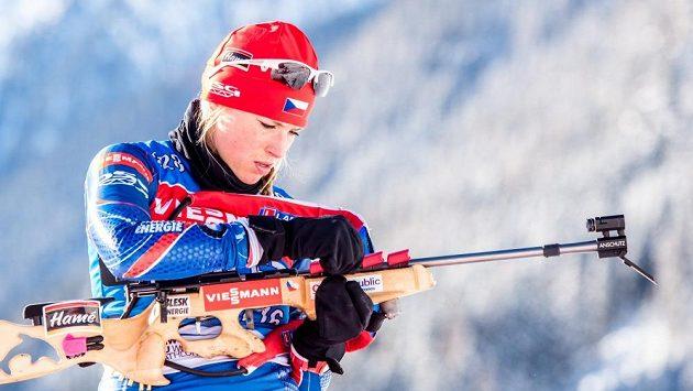 Barbora Tomešová ještě jako biatlonistka.