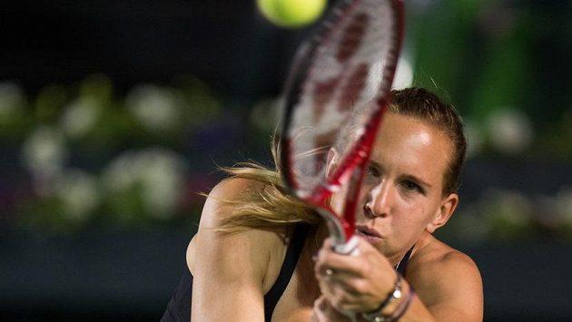 Nicole Vaidišová v utkání s Anou Ivanovičovou