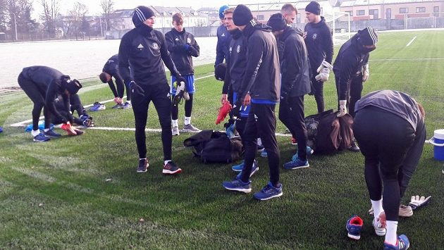 Start zimní přípravy fotbalistů Sigmy Olomouc.