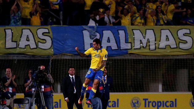 Sergio Araújo z Las Palmas se raduje z vyrovnávacího gólu proti Realu Madrid.