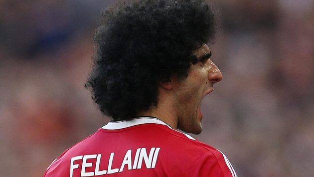 Marouane Fellaini z Manchesteru United.