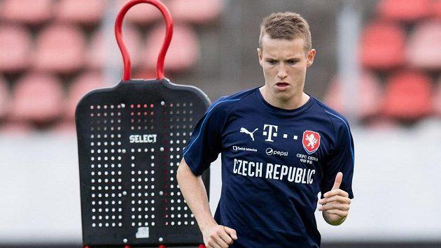 Jakub Jankto během tréninku reprezentace.