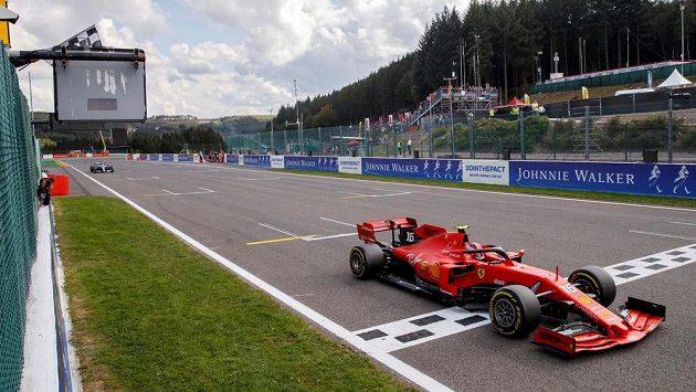 Charles Leclerc na snímku z loňského závodu ve Spa.