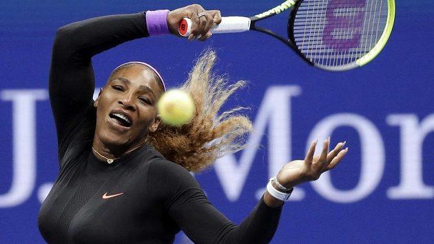 Serena Williamsová ve čtvrtfinálové partii na US Open.