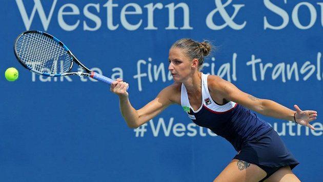 Česká tenistka Karolína Plíšková v semifinále turnaje v Cincinnati.