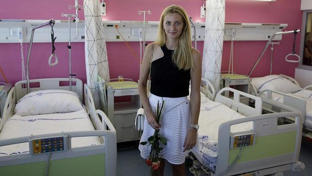 Tenistka Petra Kvitová otevřela novou dětskou lůžkovou rehabilitaci v nemocnici Motol.