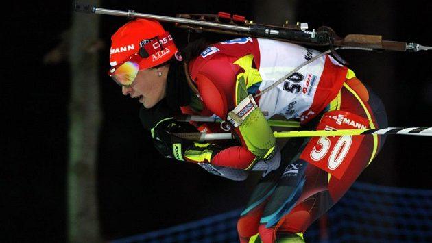 Veronika Vítková na trati sprintu.