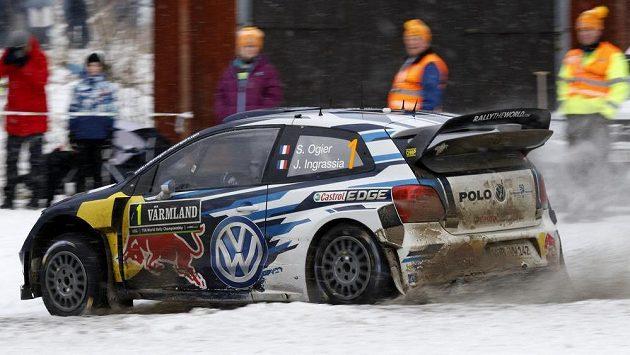 Sebastien Ogier na Švédské rallye,