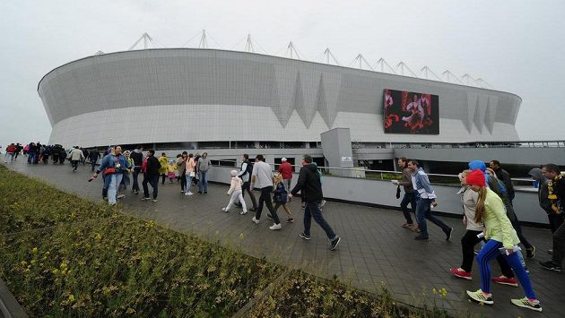 Rostov Arena, jeden ze stadiónů pro nadcházející MS. Ilustrační snímek.
