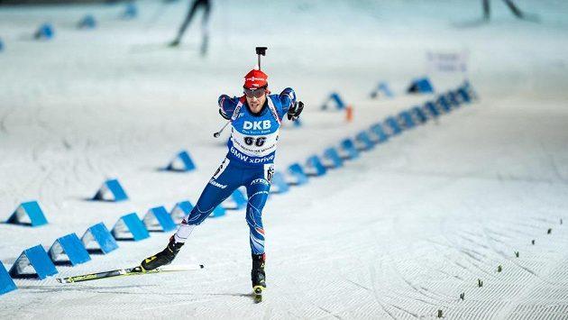 Jaroslav Soukup během sprintu při Světovém poháru v Novém Městě na Moravě.