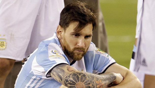 Lionel Messi po finále amerického šampionátu.