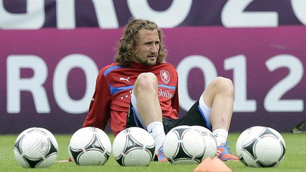 Petr Jiráček na tréninku české reprezentace.
