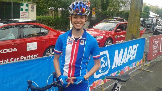 Anežka Drahotová po premiéře na cyklistickém mistrovství světa.