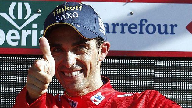Španěl Alberto Contador, lídr Vuelty.