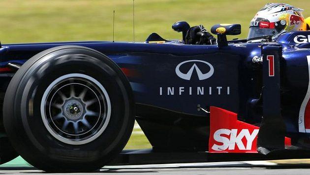 Německý závodník Sebastian Vettel na okruhu v Sao Paulu.
