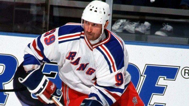 Wayne Gretzky v dresu NY Rangers.