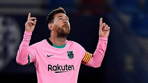 Lionel Messi na snímku z utkání mezi Barcelonou a Levante