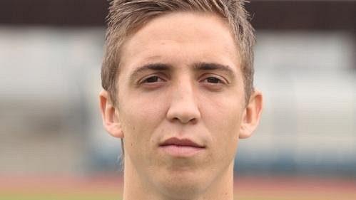 Fotbalista Ústí Richard Veverka