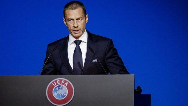 Předseda UEFA Aleksander Čeferin