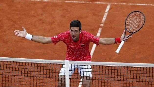 Novak Djokovič během turnaje v Bělehradě.