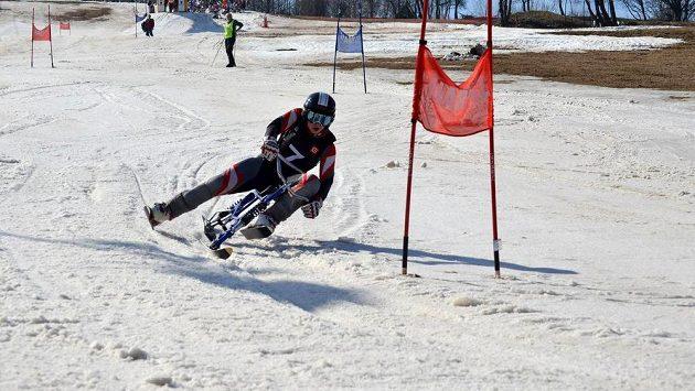 Alena Housová, vítězka obřího slalomu v Jablonci nad Jizerou i celého Světového poháru, zažila na trati těžké podmínky.