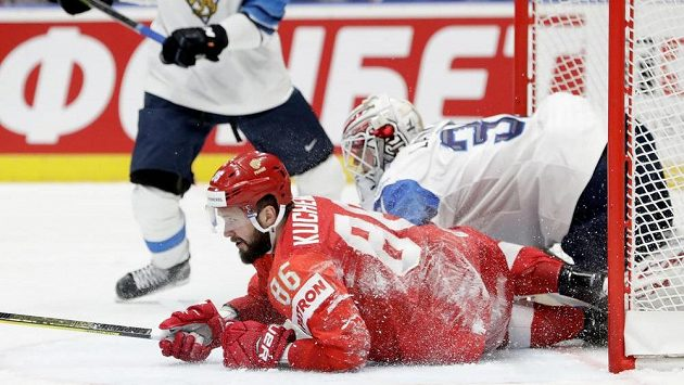 Nikita Kučerov v ruském dresu na MS, kde se představil poté, co Tampa vyhořela v play off NHL.