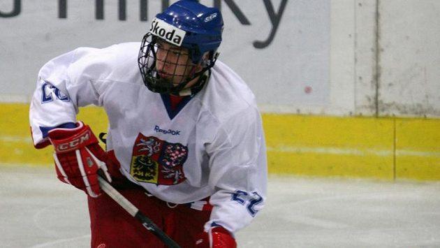 Český hokejový reprezentant Matěj Beran.