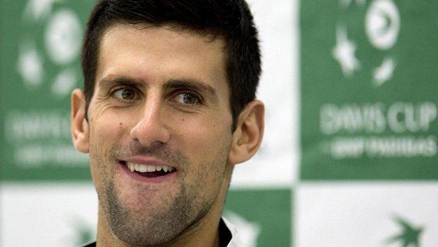 Srbský tenista a druhý hráč světa Novak Djokovič má před finále Davisova poháru skvělou náladu.