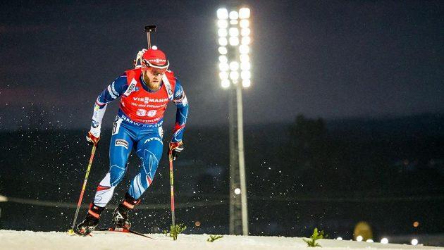 Michal Šlesingr při sprintu v Östersundu.