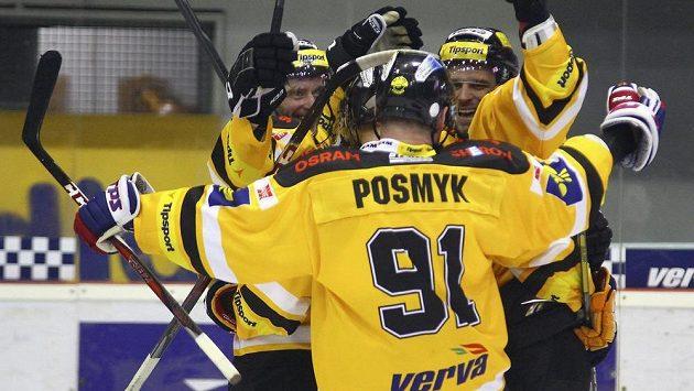 Radost hráčů Litvínova.