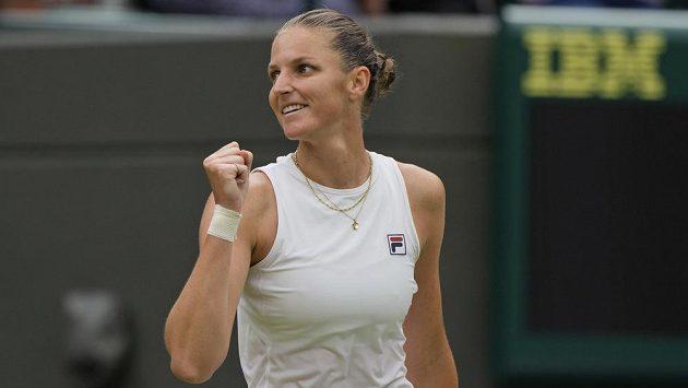Karolína Plíšková slaví postup do semifinále Wimbledonu
