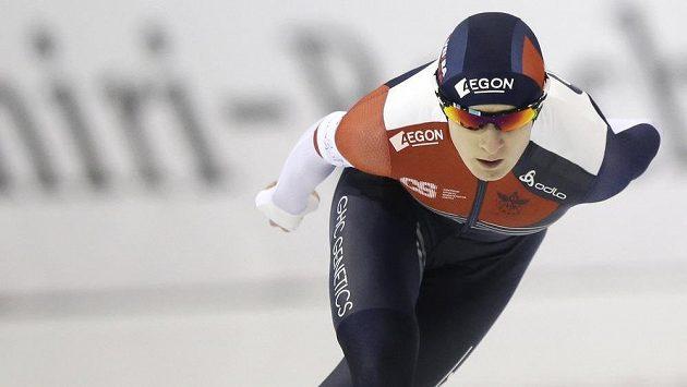 Martina Sáblíková při závodě v Salt Lake City.