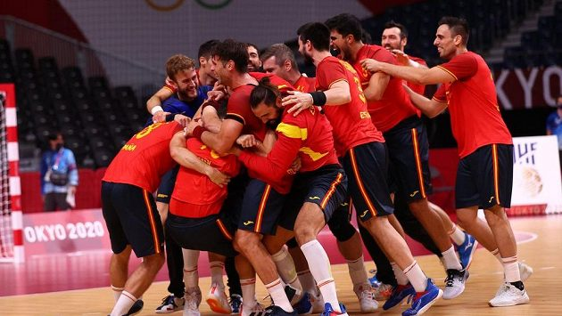 Velká radost házenkářů Španělska