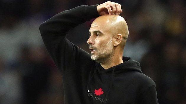 Kouč Manchesteru City Pep Guardiola.