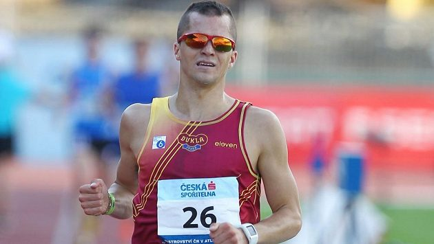 Jakub Holuša při atletickém mistrovství republiky v Ostravě.
