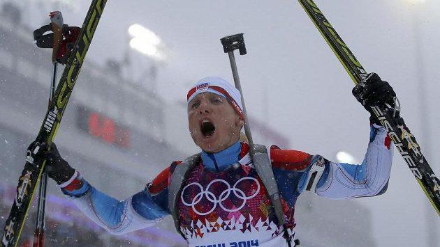 Radost v cíli měl Ondřej Moravec, který v závodě s masovým startem vybojoval bronz.